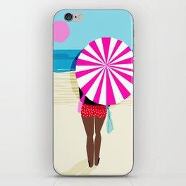 Fer Sure - throwback beach retro socal surfing sport 1980s neon classic 80s style memphis pop art iPhone Skin