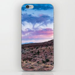 Utah Red Rock and Colorful Sunset iPhone Skin