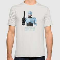 Dead or alive, you're coming with me (RoboCop) Mens Fitted Tee Silver LARGE