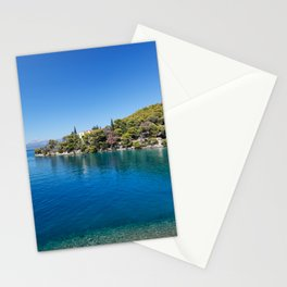 The Love bay in Poros island, Greece Stationery Cards