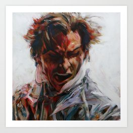 Painting of Patrick Bateman (Christian Bale) from American Psycho (2000) Art Print