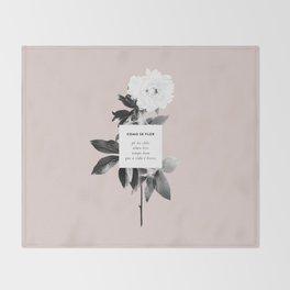 Como Se Flor Throw Blanket