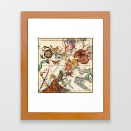 Gemini, Orion, Cancer, Taurus, Canis Major, Canis Minor And Other Constellations Framed Art Print
