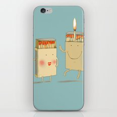 Light my match iPhone & iPod Skin