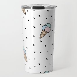 cute colorful cone ice cream pattern background Travel Mug