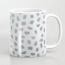 Simply Ink Splotch Indigo Blue on Lunar Gray Coffee Mug