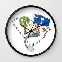 South Carolina Mermaid Wall Clock