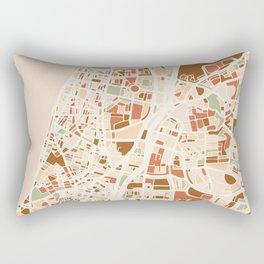 TEL AVIV ISRAEL CITY MAP EARTH TONES Rectangular Pillow