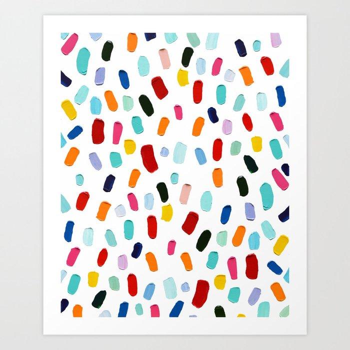Print of an original Multicolor Daubs