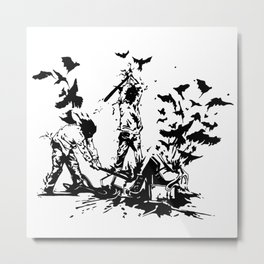 Famous also Fade Metal Print