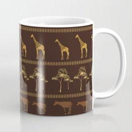 Giraffe & Okapi Print Pattern ~ EARTHY GOLDS PALETTE Coffee Mug