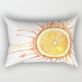 Splash Orange Slice Watercolor Painting Rectangular Pillow