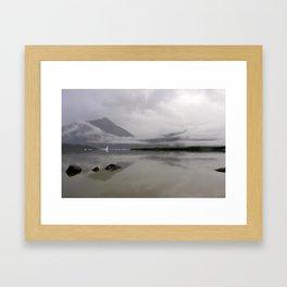 Mendenhall Lake Framed Art Print
