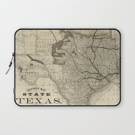 Old Map of Texas 1876 Vintage Wall map Restoration Hardware Style Map Laptop Sleeve
