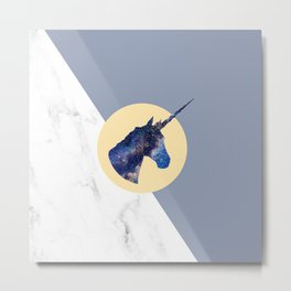 Unicorn in Starry Night Metal Print