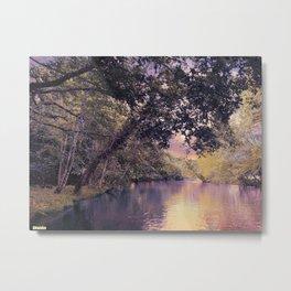 Sunset River Metal Print