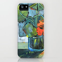 Bloom in a Blue Vase iPhone Case