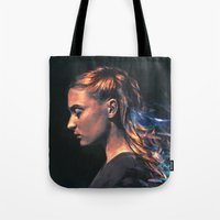 sansa stark Tote Bags featuring Amethyst by Alice X. Zhang
