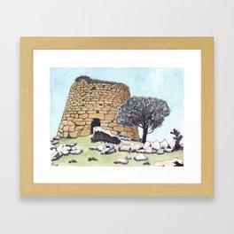 Nuraghe Tower in Sardinia Framed Art Print