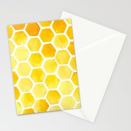 Watercolour Honeycomb Stationery Cards