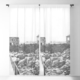 1895 Windswept Black Point Mansion, Scarborough Beach, Narragansett, Rhode Island Then & Now Blackout Curtain