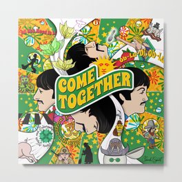 Come Together (Green and Yellow) Metal Print