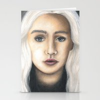 mother of dragons Stationery Cards featuring Mother of Dragons by Eleanor Dapre