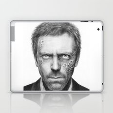 House MD Zombie Portrait Hugh Laurie Laptop & iPad Skin
