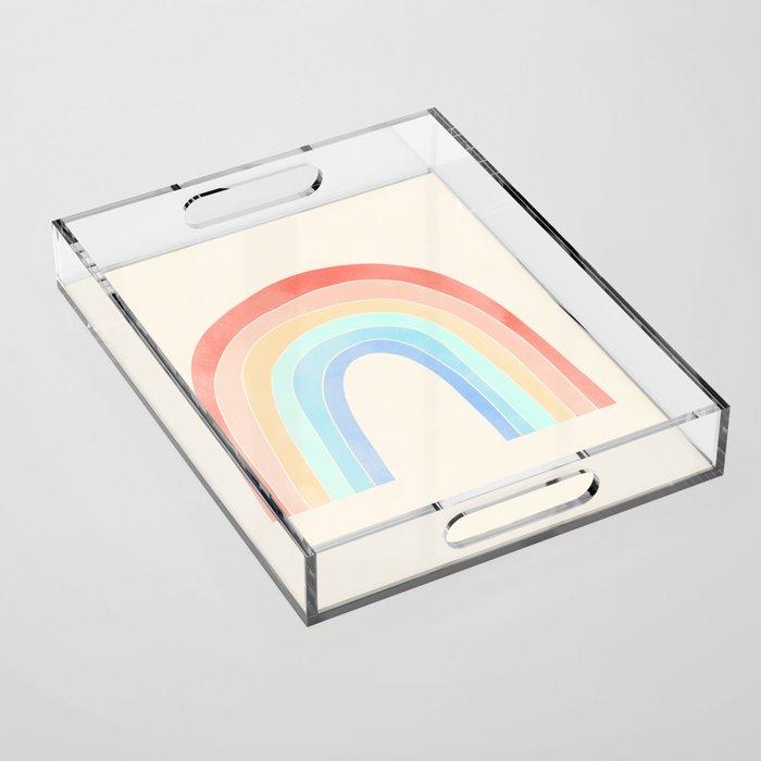 abstract rainbow Acrylic Tray