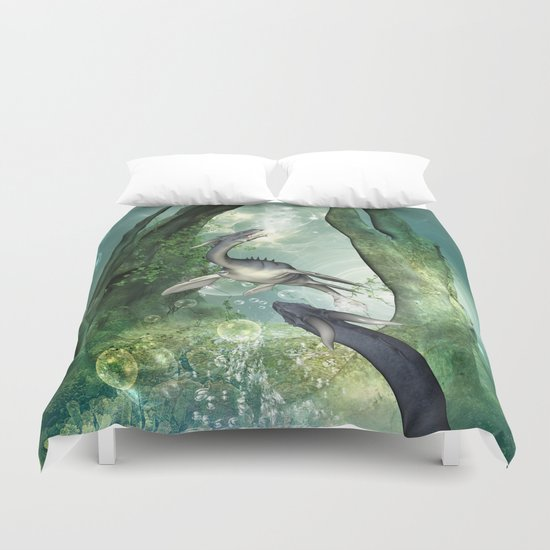 Awesome seadragon Duvet Cover
