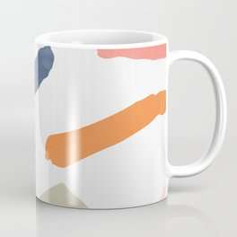 Mix of color shapes happy artwork Coffee Mug