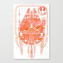 Falcon & the Rebel Canvas Print