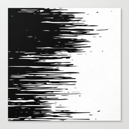 Carefree Black and White Canvas Print