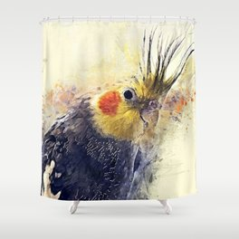 Cockatiel Shower Curtain