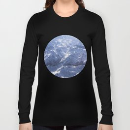 White mountains with snow winter nature Long Sleeve T-shirt