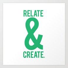 Relate & Create (Green) Art Print