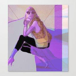 Sitting woman Canvas Print