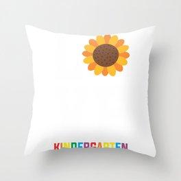 Kindergarten Sunflower Educator PreK Teacher Throw Pillow