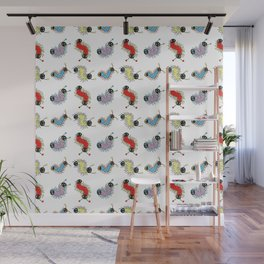 Wiggily Cartoon Colourful Caterpillars Wall Mural
