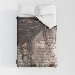 Handwritten letter with portrait Comforters