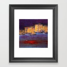 town by the sea Framed Art Print