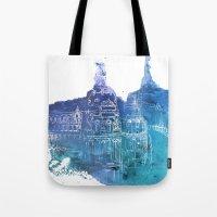 madrid Tote Bags featuring Madrid by Ksenia Balakireva