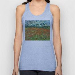 Vincent Van Gogh Poppy Field Unisex Tank Top