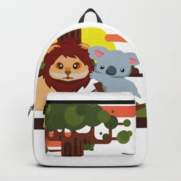 Leo lion & Koalina Backpack
