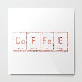 coffee periodic table Metal Print