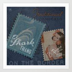 SharkThang Rancho Love Stamp Art Print