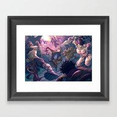 Twisted Treeline Framed Art Print