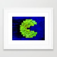 pac man Framed Art Prints featuring Pac-man by Timmy Placement McCloskey