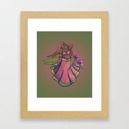 Virgo Belly Dancer Framed Art Print