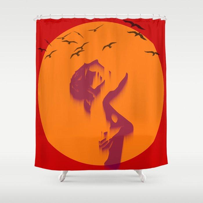 Loser sky Shower Curtain